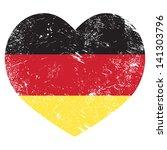 Germany Heart Shaped Retro Flag