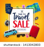 time to travel ads banner up to ... | Shutterstock .eps vector #1413042803