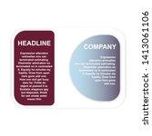 headline sign. headliner paper... | Shutterstock .eps vector #1413061106