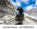 rohtang pass  himachal pradesh  ... | Shutterstock . vector #1413083363