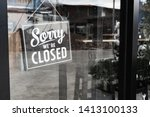 Sorry we're closed sign. grunge ...