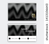 luxurious business card design. ... | Shutterstock .eps vector #1413106643