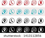 vector icons for business card  ... | Shutterstock .eps vector #1413112856