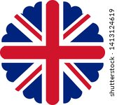 flag of the united kingdom... | Shutterstock .eps vector #1413124619