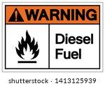 warning diesel fuel symbol sign ... | Shutterstock .eps vector #1413125939