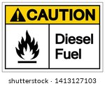 caution diesel fuel symbol sign ... | Shutterstock .eps vector #1413127103