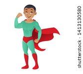 african american superman...   Shutterstock .eps vector #1413130580