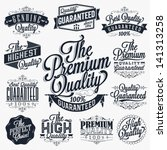 set of vintage premium quality... | Shutterstock .eps vector #141313258
