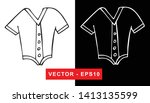 black and white vector... | Shutterstock .eps vector #1413135599