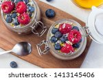 layered chocolate and peanut...   Shutterstock . vector #1413145406