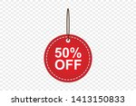red sale tag banner discount... | Shutterstock .eps vector #1413150833