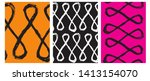set of 3 hand drawn irregular... | Shutterstock .eps vector #1413154070