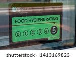 close up of a window sticker... | Shutterstock . vector #1413169823