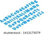 font isometric 3d vector... | Shutterstock .eps vector #1413175079