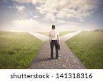 the right destination of a... | Shutterstock . vector #141318316