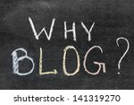 why blog question handwritten... | Shutterstock . vector #141319270