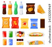 snack and fast food products... | Shutterstock .eps vector #1413200969