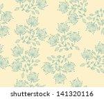 seamless vector flower pattern... | Shutterstock .eps vector #141320116