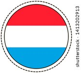 luxembourg flag sticker on... | Shutterstock .eps vector #1413202913