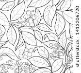 sandalwood vector pattern on...   Shutterstock .eps vector #1413206720