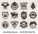 vintage outdoor adventure... | Shutterstock .eps vector #1413214676