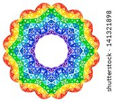Rainbow Kaleidoscope Vector...