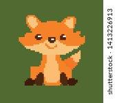 pixel fox. the figure of the... | Shutterstock .eps vector #1413226913