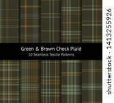 Tartan Check Plaid Pattern Set. ...