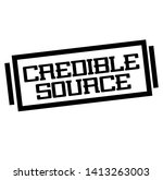 credible source stamp on white | Shutterstock . vector #1413263003