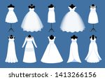 collection of long and short... | Shutterstock .eps vector #1413266156