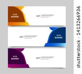 abstract design banner web... | Shutterstock .eps vector #1413266936