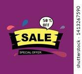 50  off sale discount banner....   Shutterstock .eps vector #1413267590