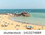 broadstairs beach  kent  uk  ...   Shutterstock . vector #1413274889