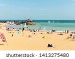 broadstairs beach  kent  uk  ...   Shutterstock . vector #1413275480