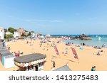 broadstairs beach  kent  uk  ...   Shutterstock . vector #1413275483