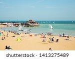 broadstairs beach  kent  uk  ...   Shutterstock . vector #1413275489