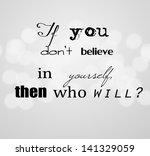 an inspirational motivating...   Shutterstock . vector #141329059