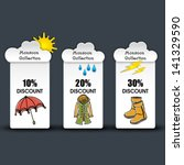 monsoon offer and sale stickers ... | Shutterstock .eps vector #141329590