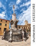 the triumph of saint raphael...   Shutterstock . vector #1413311483