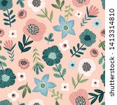 floral abstract seamless... | Shutterstock .eps vector #1413314810