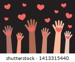 the hands of various people... | Shutterstock .eps vector #1413315440