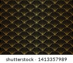 classic art deco seamless...   Shutterstock .eps vector #1413357989