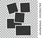 set of square vector photo... | Shutterstock .eps vector #1413361763