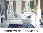 big sofa in classic interior | Shutterstock . vector #141336373
