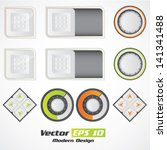 vector modern color button set