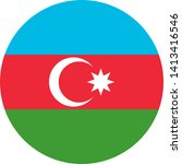 flag of azerbaijan illustration ... | Shutterstock .eps vector #1413416546