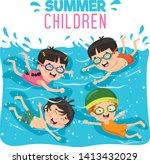 vector illustration of summer... | Shutterstock .eps vector #1413432029