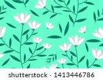 flower floral pattern...   Shutterstock .eps vector #1413446786