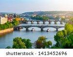 Bridges Over Vltava River In...