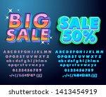 big sale font set. alphabet... | Shutterstock .eps vector #1413454919